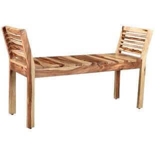 Union Rustic Shanda Wood Bench