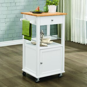 Lithopolis Kitchen Cart by Alcott Hill
