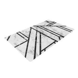 Mosaic Geometric Modern Black/Marble Area Rug