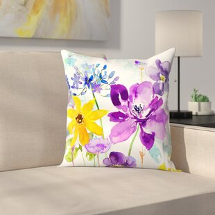 Floral Shimmer Throw Pillow