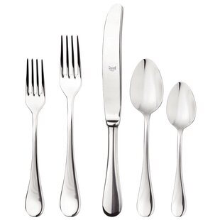 Brescia 5 Piece 18/10 Stainless Steel Flatware Set, Service for 1