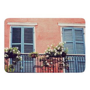 New Orleans Balcony By Sylvia Cook Memory Foam Bath Mat by East Urban Home