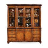 Windsor Serpentine Architrave Lighted China Cabinet by Jonathan Charles Fine Furniture