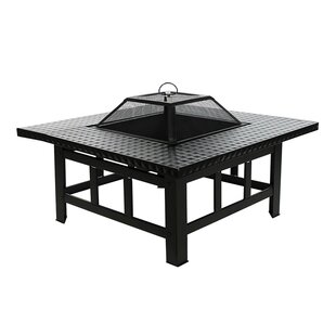 Steel Charcoal Fire Pit Table by ALEKO Savings