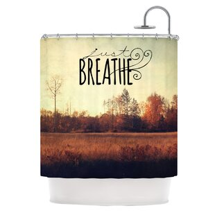 Just Breathe Single Shower Curtain