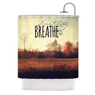 Just Breathe Single Shower Curtain