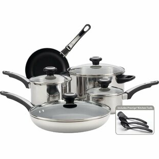 High Performance 12 Piece Non-Stick Stainless Steel Cookware Set