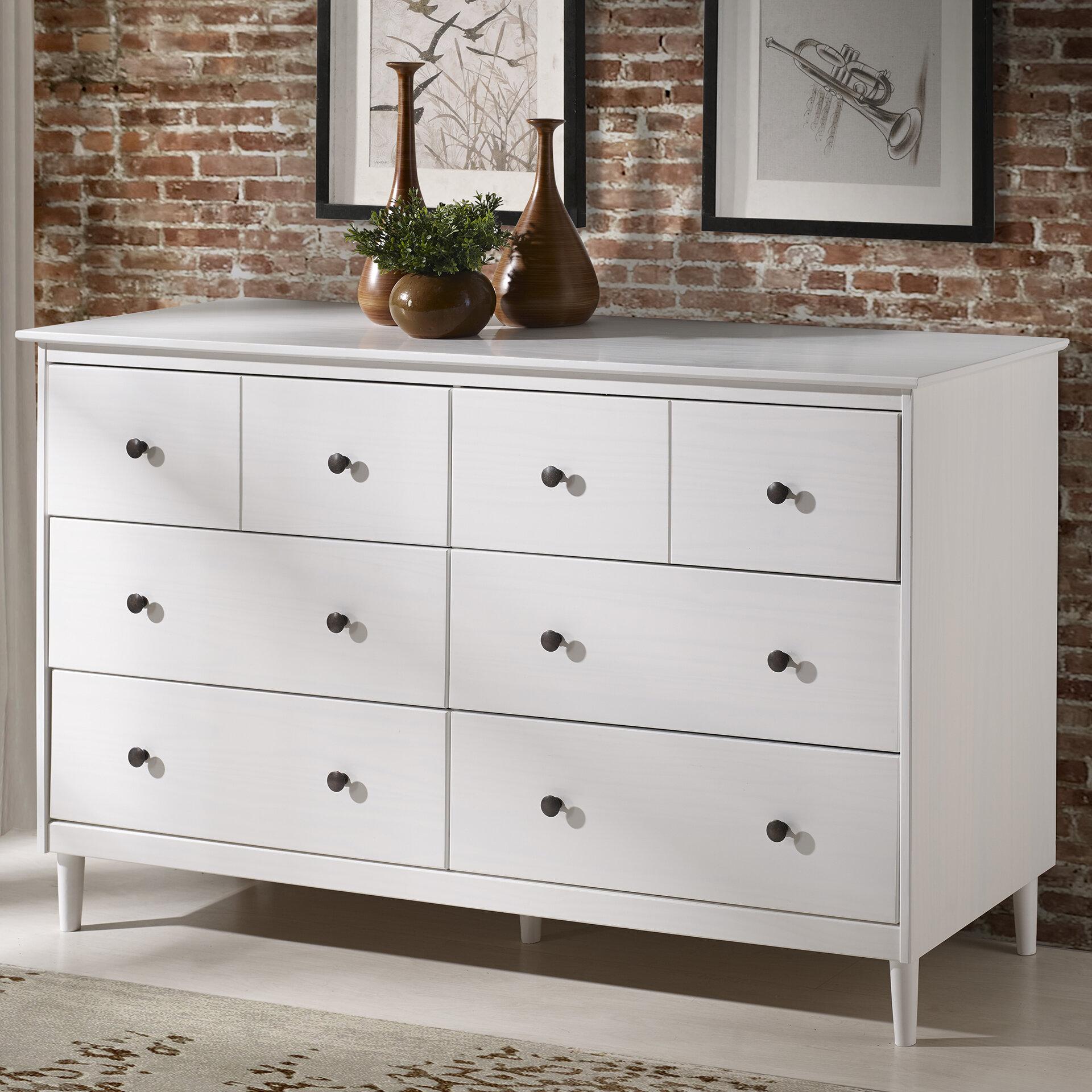 Mercury Row Lach Solid Wood 6 Drawer Double Dresser U0026 Reviews | Wayfair