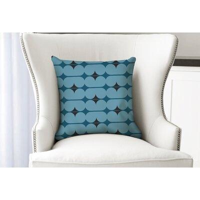 """Elle Decor Capsules Forest Accent Cotton Throw Pillow Colour: Blue, Size: 18"""" x 18"""""""