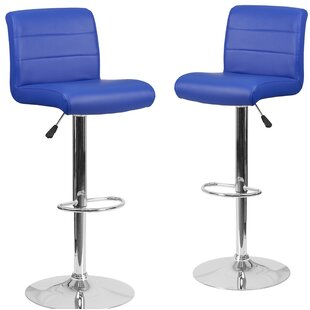 Nusbaum Adjustable Height Swivel Bar Stool (Set of 2) Orren Ellis
