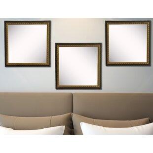 Astoria Grand Derrik Traditional Cameo Bronze Wall Mirror (Set of 3)