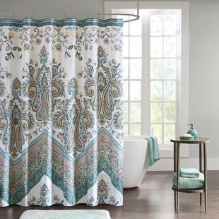 Teal And Purple Shower Curtain