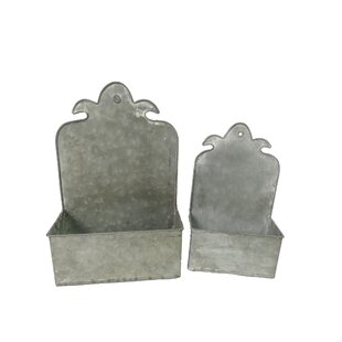 Dehaan 2 Piece Metal Planter Box Set Image
