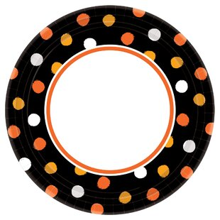 Halloween Haunt Couture Round Paper Dinner Plate (Set of 40)