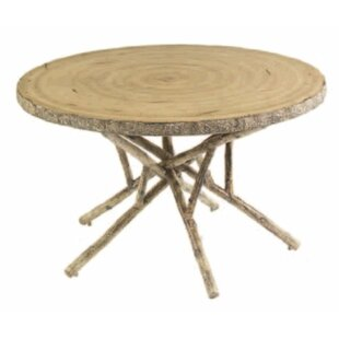 Woodard River Run Round Birch Heartwood Wooden Dining Table