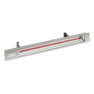 Slimline Quartz 2400 Watt Electric Mounted Patio Heater By Infratech