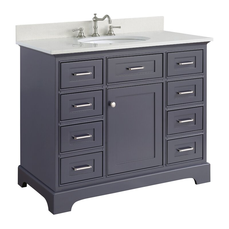 "Kingon 42"" Single Bathroom Vanity Set"