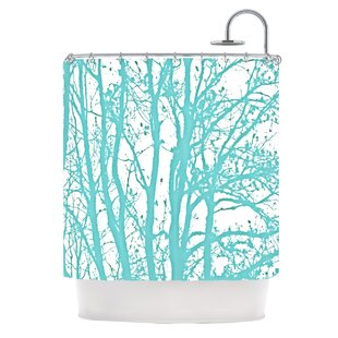 Mint Trees Single Shower Curtain