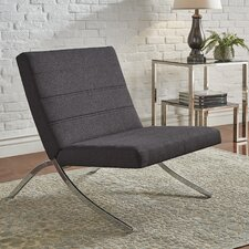 Balderas Linen Lounge Chair with Metal Leg by Wade Logan