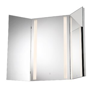 Stoltenberg Tri Fold Led Bathroom Vanity Mirror