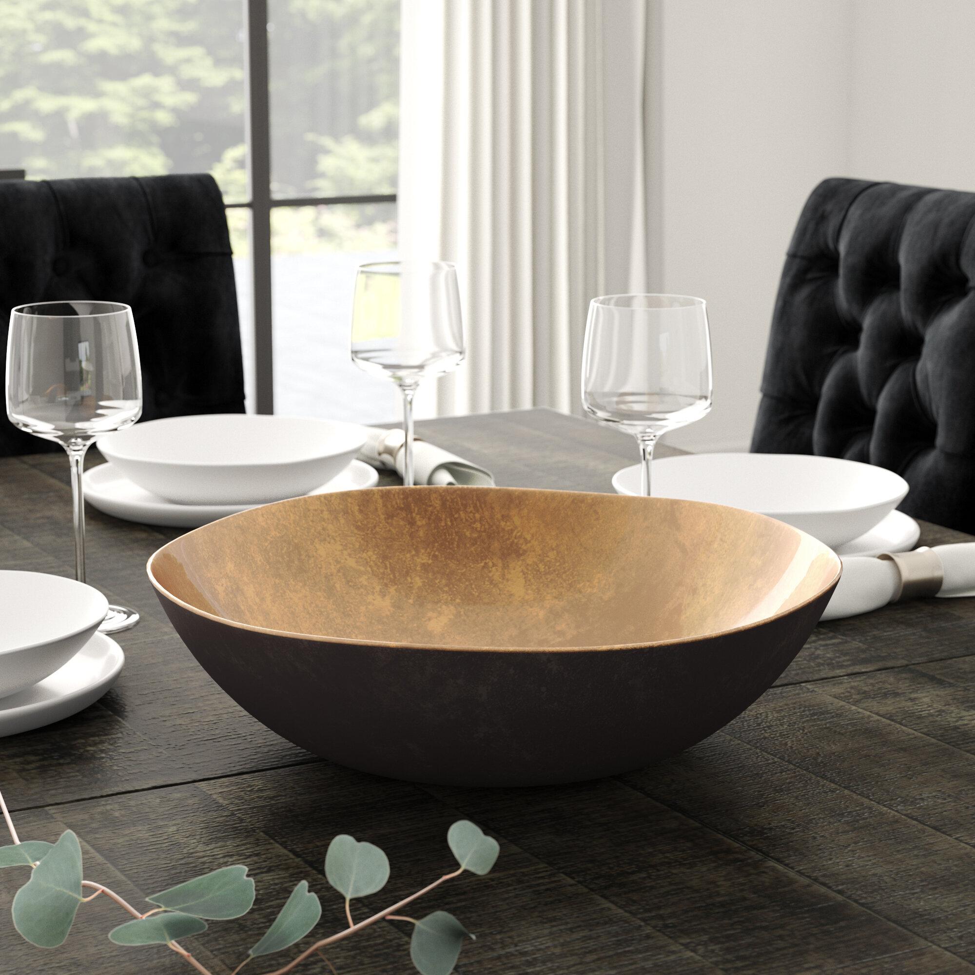 Greyleigh Coleen Large Round Decorative Bowl Reviews Wayfair