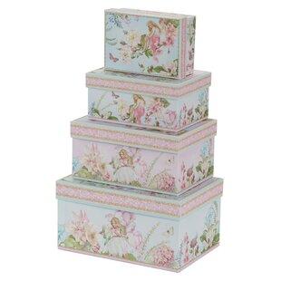 Fairy Cardboard 4 Piece Box Set By Fleur De Lis Living