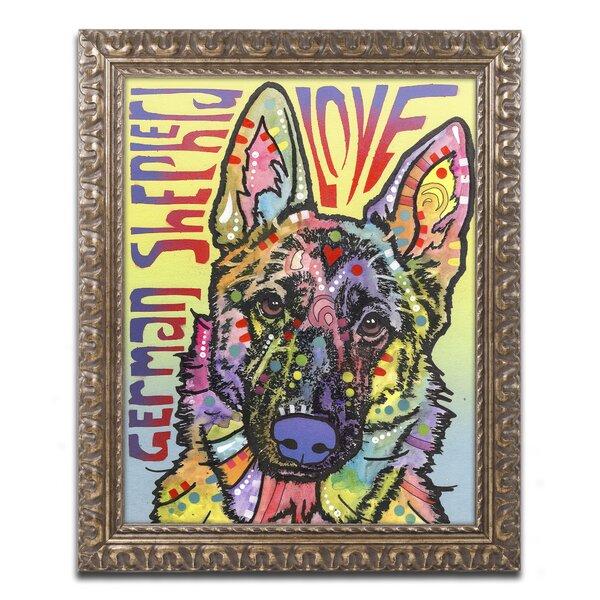 Trademark Art German Shepherd Luv By Dean Russo Framed Graphic Wayfair
