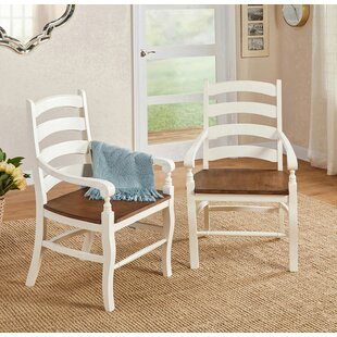 Divij Solid Wood Arm Chair (Set of 2) Ophelia & Co.