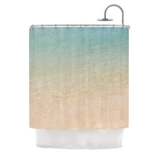 Ombre Sea by Catherine McDonald Beach Photography Single Shower Curtain