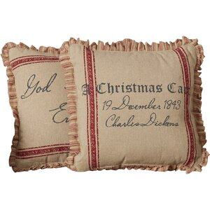 Thurman A Christmas Carol 100% Cotton Throw Pillow (Set of 2)