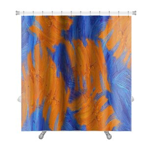 Simple Hand Painted Impressionistic Oil Painting Premium Single Shower Curtain