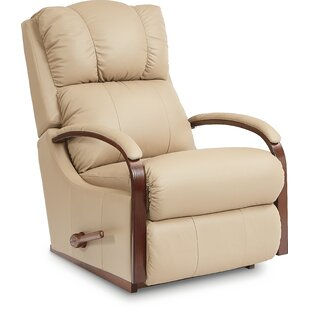 Peachy Harbor Town Leather Manual Rocker Recliner Inzonedesignstudio Interior Chair Design Inzonedesignstudiocom