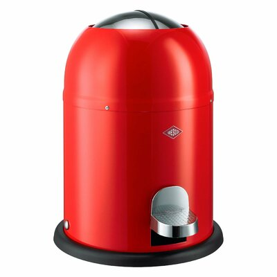 Wesco Single Master 2 Gallon Step On Trash Can Color: Red