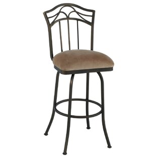 Hueytown 34 Swivel Bar Stool Red Barrel Studio