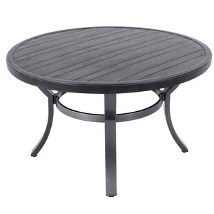Landwehr Embossed Wood Grain Slats Metal Coffee Table Affordable Price
