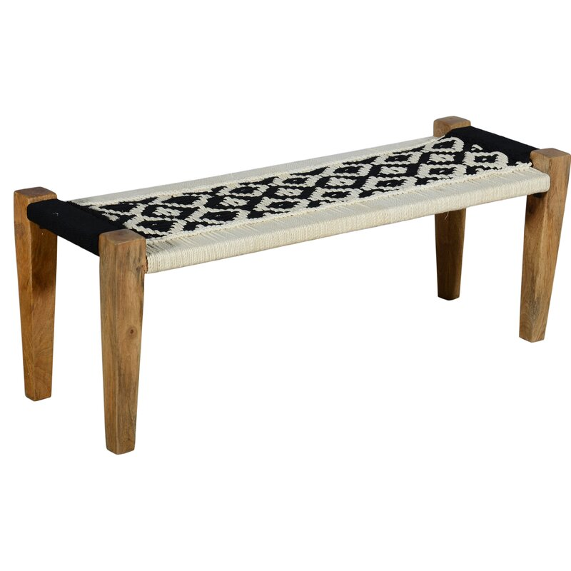 Union Rustic Hankins Upholstered Bench Wayfair