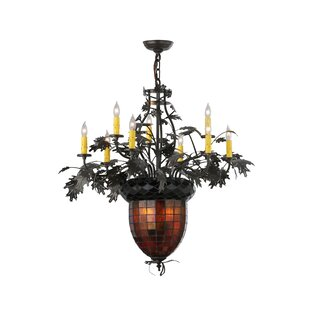 Meyda tiffany chandeliers youll love greenbriar oak 9 light candle style chandelier by meyda tiffany aloadofball Image collections