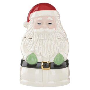 Christmas Gifts Santa Treat Cookie Jar by Lenox #1