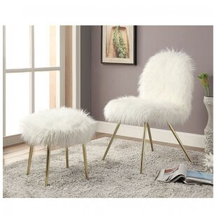 Everly Quinn Ridley Slipper Chair and Ottoman