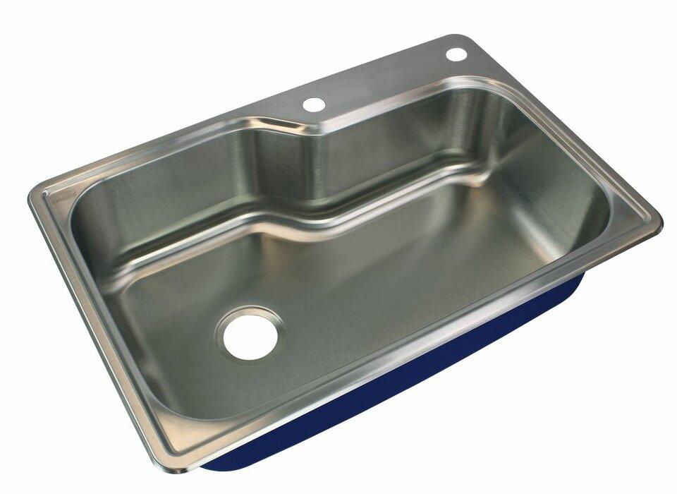 Transolid Meridian 33 L X 22 W Drop In Kitchen Sink Reviews Wayfair