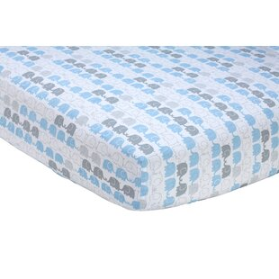 Compare Elefant Blau Fitted Crib Sheet ByZutano