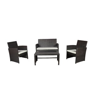 Madisonburg 4 Piece Bar Height Dining Set with Cushions