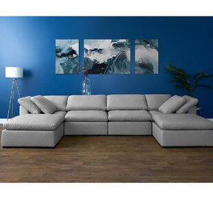 Grantville Reversible Modular Sectional with Ottoman by Three Posts