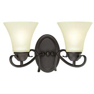 Metz 2-Light Vanity Light by Charlton Home