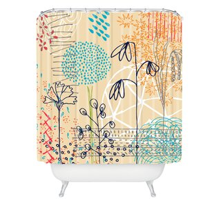 Kerrie Satava Spring Raindrops Single Shower Curtain