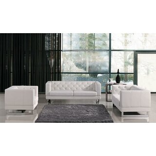 Alsatia 3 Piece Leather Living Room Set by Wade Logan SKU:AA110471 Details