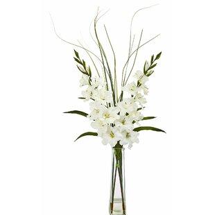 Artificial Gladiola Floral Arrangement in Vase