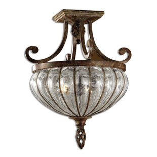 Lorie 2-Light Semi Flush Mount..