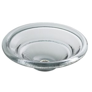 Artist Editions Glass Circular Vessel Bathroom Sink
