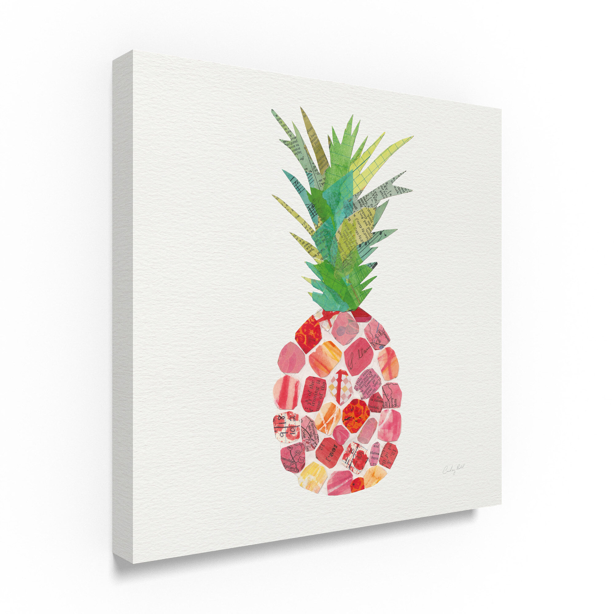 Bay Isle Home Tropical Fun Pineapple I Graphic Art Print On Wrapped Canvas Wayfair
